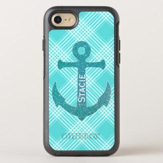 Aqua Blue Anchor OtterBox Symmetry iPhone 8/7 Case
