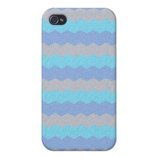 Aqua, blue and grey chevron iPhone 4 covers