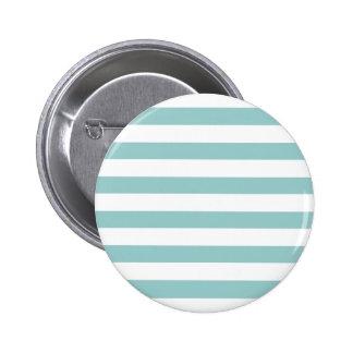 Aqua Blue and White Stripes Pattern 6 Cm Round Badge