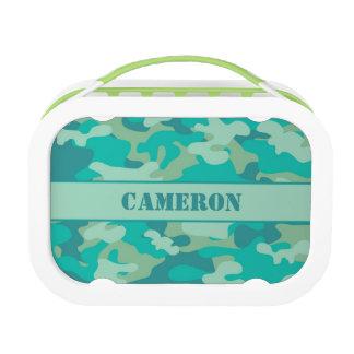 Aqua Blue Camouflage (Camo) | Personalized Lunch Box