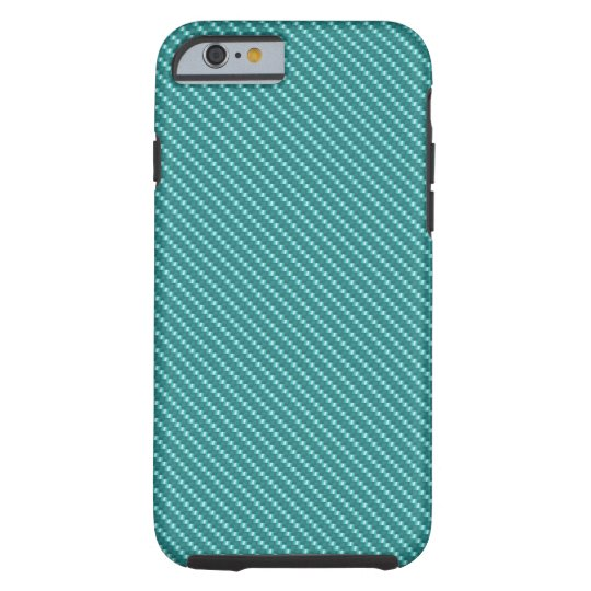 Aqua Blue Carbon Fibre Base Tough iPhone 6