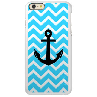 Aqua Blue Chevron Anchor iPhone 6 Plus Case