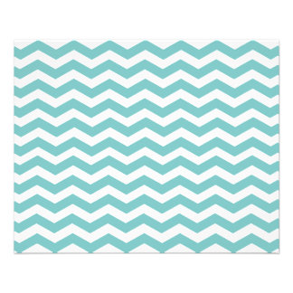 Aqua Blue Chevron. Great Paper / Affordable Price