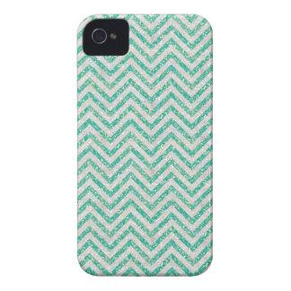 Aqua blue Chevron pattern iPhone 4 Cases