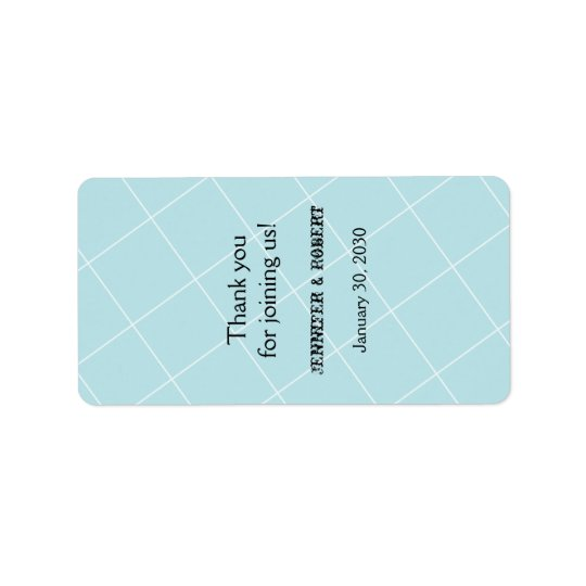 Aqua Blue Diamond Wedding Lip Balm Label Address Label