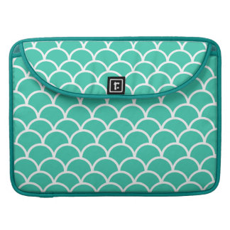 Aqua Blue Fish scale pattern Sleeve For MacBook Pro