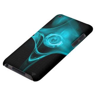 AQUA BLUE FRACTAL ROSE iPod TOUCH CASES