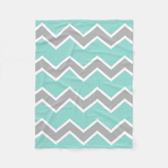 Aqua Blue Grey Grey Chevron Print Pattern Girl