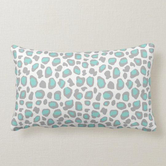 Aqua Blue Grey Grey Leopard Animal Print Pattern