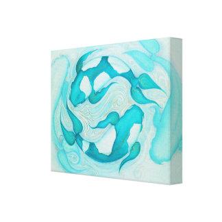 Koi carp wrapped canvas prints for Koi canvas print