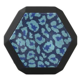 Aqua Blue Leopard Spots Ultrasuede Look Black Boombot Rex Bluetooth Speaker