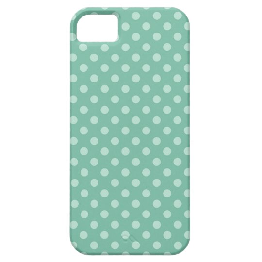Aqua Blue Little Polka Dots Pattern Print Gifts iPhone 5 Case