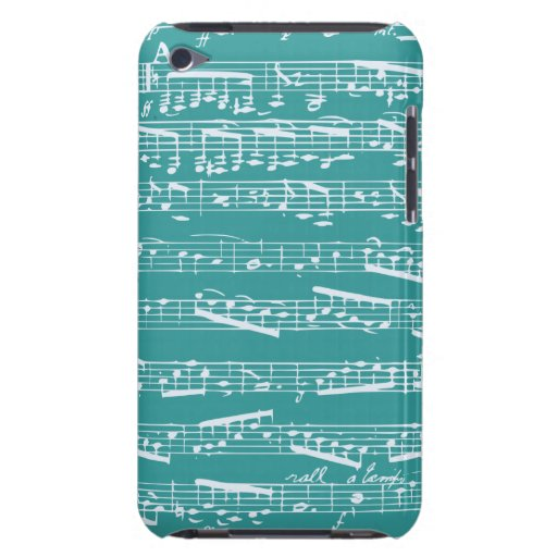 Aqua Blue music notes Case-Mate iPod Touch Case