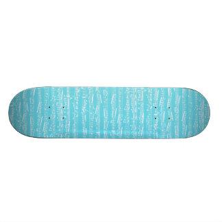 Aqua Blue music notes Skate Decks