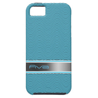 Aqua Blue Named Waves Case For The iPhone 5