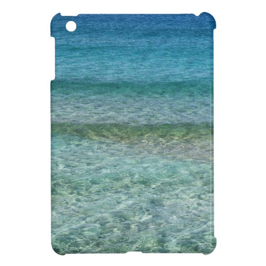 Aqua Blue Ocean Sea Abstract, iPad Mini Case