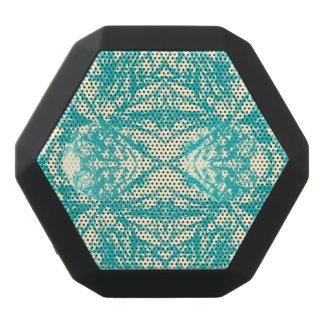 Aqua Blue Off White Snowflake Kaleidoscope Design