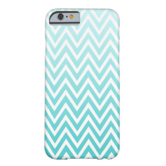 Aqua blue ombre chevron stripes iPhone 6 case