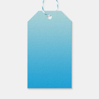 Aqua Blue Ombre Gift Tags