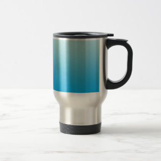 Aqua Blue Ombre 15 Oz Stainless Steel Travel Mug