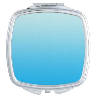Aqua Blue Ombre Travel Mirror