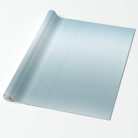 Aqua Blue Ombre Wrapping Paper
