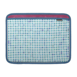 Aqua Blue Polka Dots Sleeve For MacBook Air