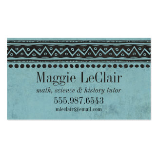 Aqua Blue Professional Appointments Business Card