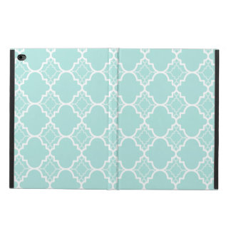 Aqua Blue Quatrefoil Geometric Pattern Powis iPad Air 2 Case
