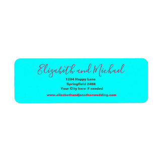 Aqua blue return address