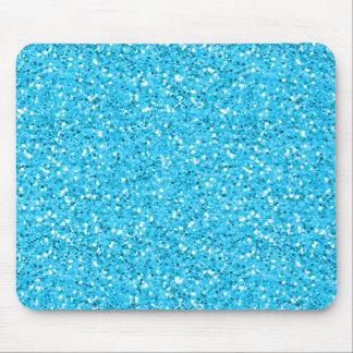 Aqua Blue Shimmer Glitter Mouse Pad