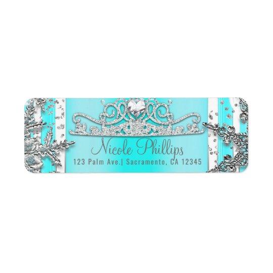 Aqua Blue & Silver Winter Wonderland Snowflakes