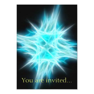 Aqua Blue Star 1 13 Cm X 18 Cm Invitation Card