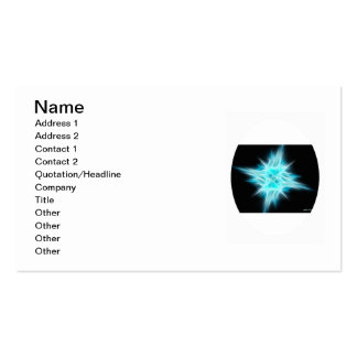 Aqua Blue Star 1 Double-Sided Standard Business Cards (Pack Of 100)