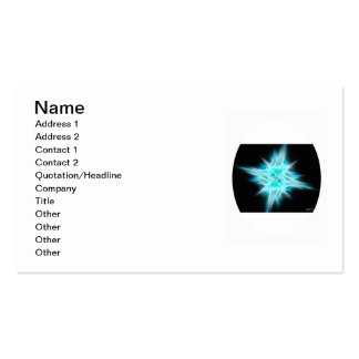 Aqua Blue Star 1 Pack Of Standard Business Cards