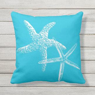 Aqua Blue Starfish Couple Sofa Pillow Cushions