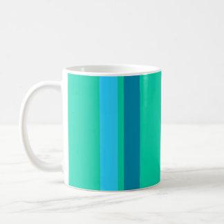 Aqua Blue Stripes Mug