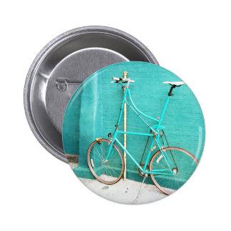 Aqua Blue Tall Bike 6 Cm Round Badge