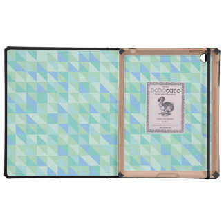 Aqua Blue Triangle Pattern IPAD Dodo Case iPad Folio Case