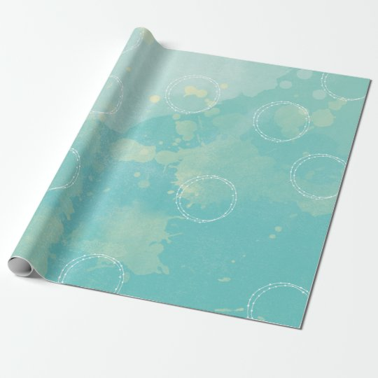 Aqua Blue Watercolor Wrapping paper