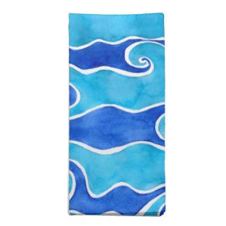 Aqua Blue Waves Napkin