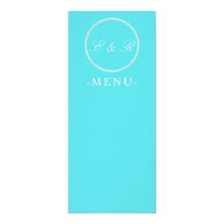 Aqua Blue Wedding 10 Cm X 24 Cm Invitation Card