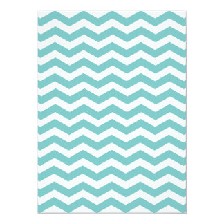 Aqua Blue & White Chevron 12 Unique Types & Colors Card