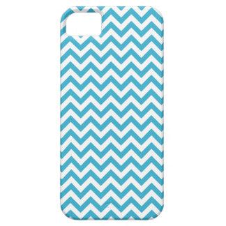 Aqua Blue White Chevron Pattern Case For The iPhone 5