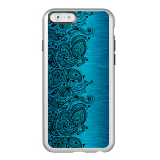 Aqua Blue With Black Paisley Lace Incipio Feather® Shine iPhone 6 Case