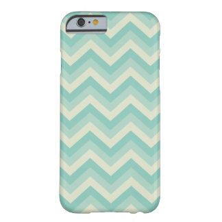 Aqua Blue Zigzag Pattern Barely There iPhone 6 Case
