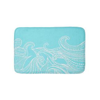 Aqua Boho Style Bath Mat Bath Mats