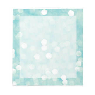 Aqua Bokeh Glitter Sparkles Notepad