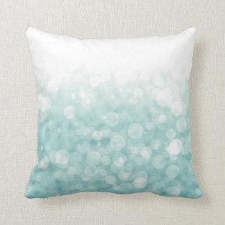 Aqua Bokeh Pillow