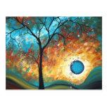 Aqua Burn Art MADART Original Painting Postcard